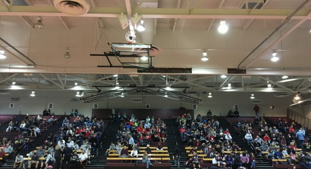 Good Crowd At Jr. High And Varsity Wrestling Match Tonight