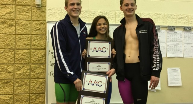Jennah Markovitch and Callen Aulizia Named AAC Swimmers of the Conference Meet
