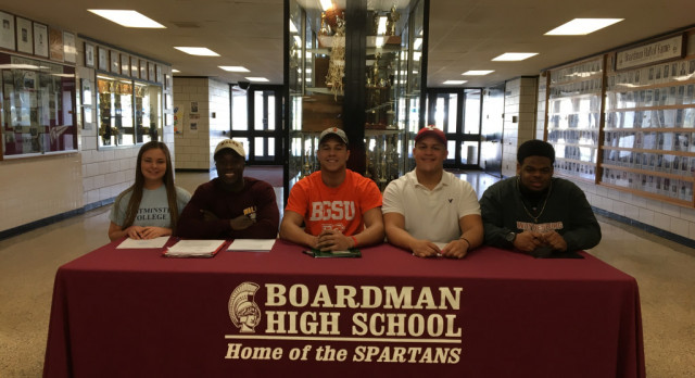 Five Spartans Sign For College On National Signing Day