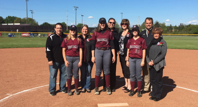 3 Spartan Senior Softball Players Honored At Home Game Against Poland