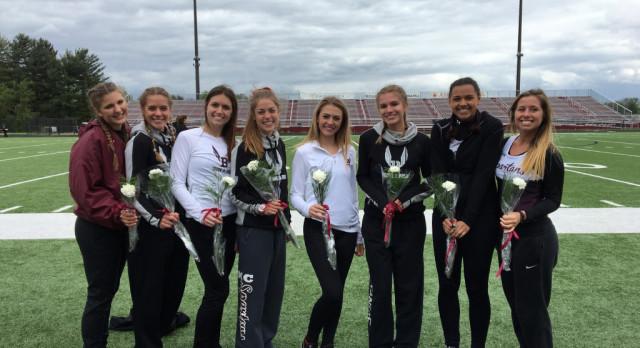 Spartan Girls Track Seniors Honored At Last Home Meet Against Poland