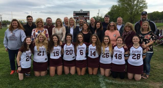 Nine Spartan Senior Girls Lacrosse Players Honored At Senior Night Against CVCA