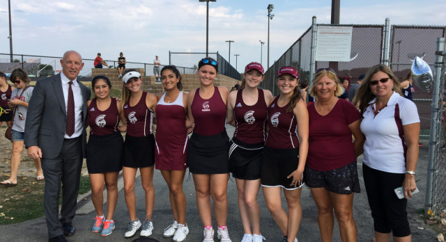 Girls Tennis Seniors Honored At Last Home Match Of The Season