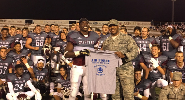 """Senior Domonhic Jennings Named Air Force """"Athlete of the Game"""" Against Howland"""