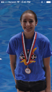 Freshman Diver Sydney O'Donnell takes 5th at State Meet