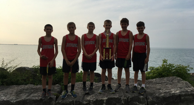 Jefferson Area Boys Junior High Cross Country Wins War on Shore Meet