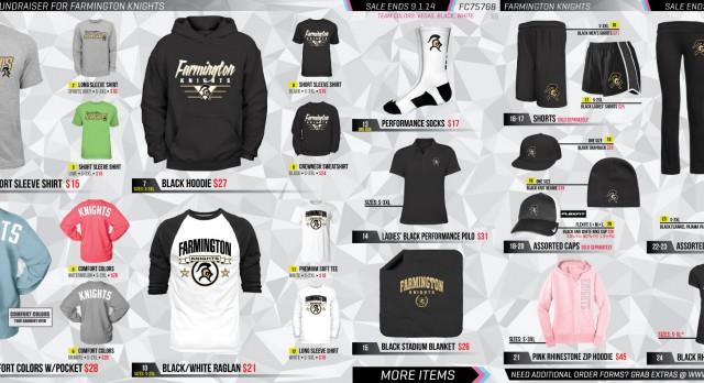 Knights Spirit Wear On Sale Now!