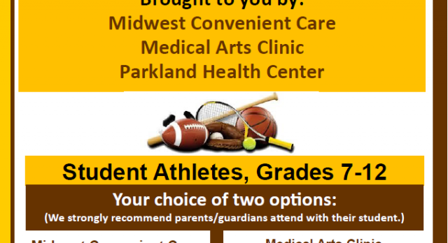 Free Sports Physicals                Starting    July 21