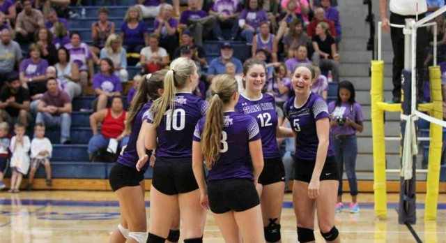 Grand Haven volleyball holds off Hudsonville on emotional Bucs Pride Night