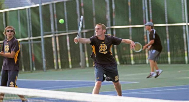 Grand Haven High School Boys Varsity Tennis ties Allegan High School 4-4