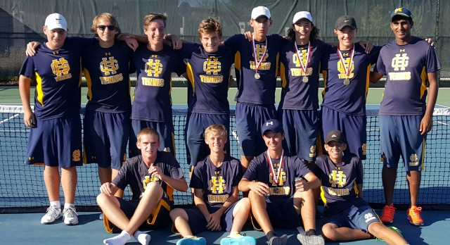 Grand Haven High School Boys Varsity Tennis finishes 2nd place