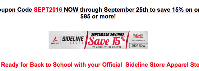 Back to School Sideline Store Sale Extended!