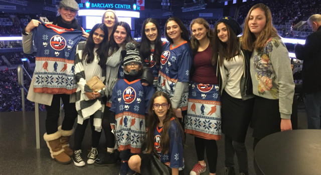 Girls Hockey Team Bonds at the Barclays