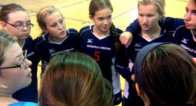 Middle School Varsity Beats WSCS In Two Straight Sets