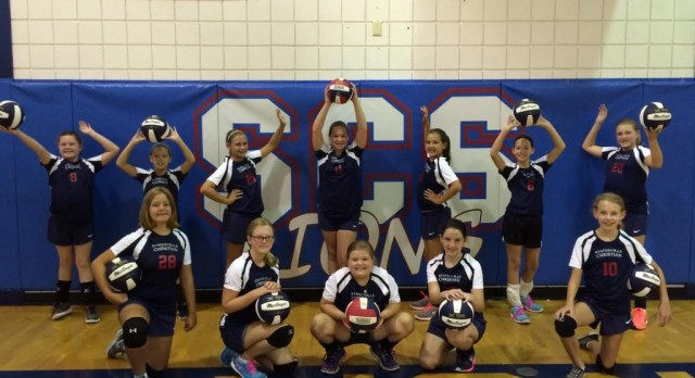 Middle School Lions Volleyball Splits With Hickory Christian