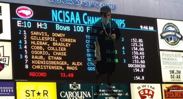 Ethan Raub Leads Swim Team In Historic First State Meet