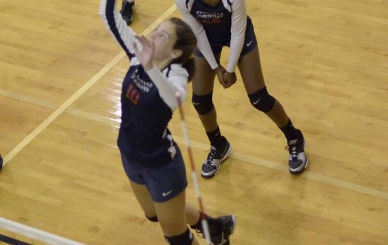 Statesville Christian School Girls Varsity Volleyball beat Carmel Christian School 3-1