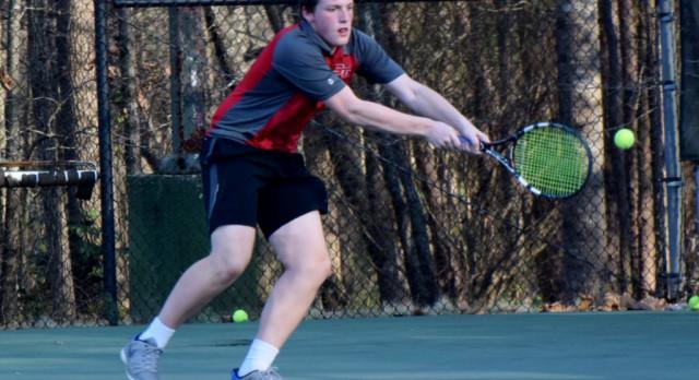 SCS Men's Tennis Handles University 8-1
