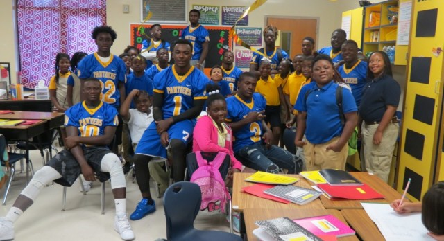 Record Number of Panthers Visit Main Street Elementary