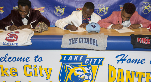 Three Lake City High Student-Athletes Sign National Letters of Intent