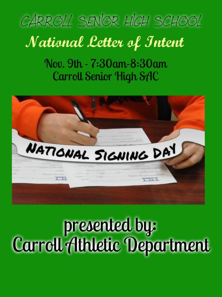 National Signing Day Nov 9th Southlake Carroll Dragons