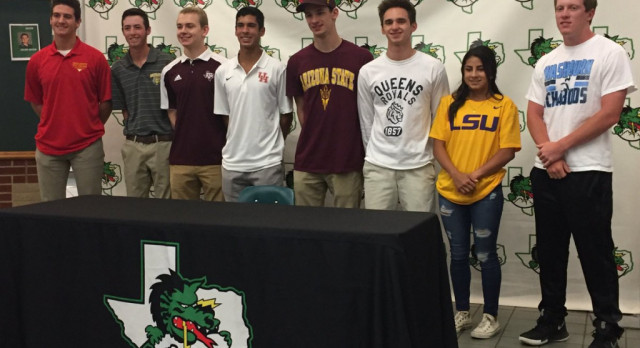 Dragon Athletes ink letters at final National Signing Day Ceremony