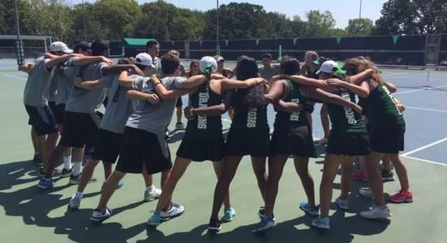 Dragon Tennis turns  back Marcus HS at home 18-1