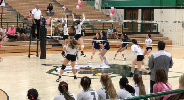 Lady Dragon Volleyball sweeps away Raiders