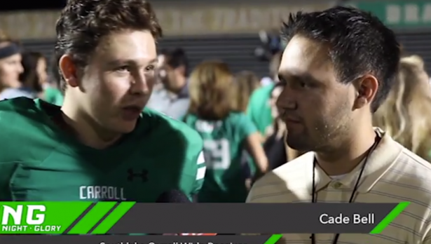 Cade Bell and Friday Night Glory post game