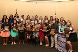 Fall Banquet Girls Awards