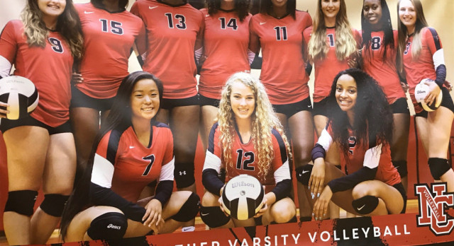 North Central High School Girls Varsity Volleyball beat Speedway (senior Night) 3-0