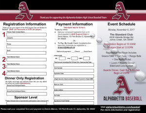 2017 AHS Birdies for Baseball Brochure- Page 2