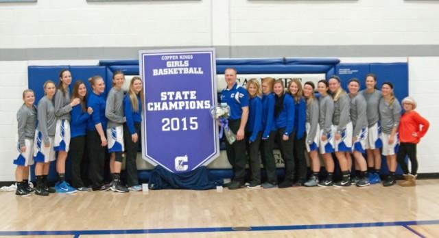 State Champions Reunite For Banner Raising