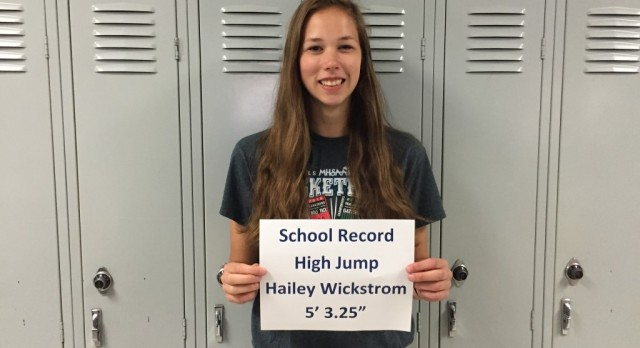 Wickstrom Sets New School Record