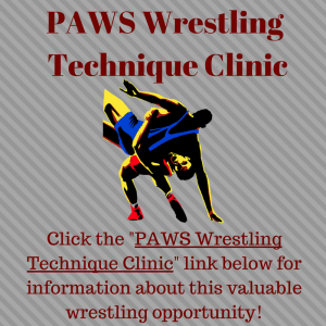 PAWS Wrestling Technique Clinic Canva
