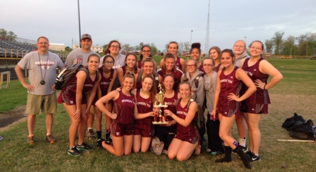 Mount Vernon High School (Mt. Vernon) Girls Varsity Track finishes 1st place