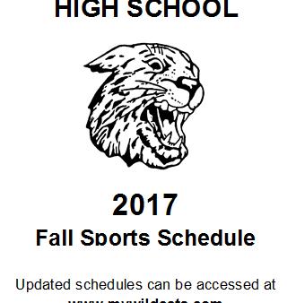 2017 Fall Sports Schedule Logo
