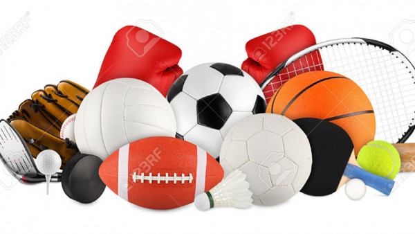 36864343-sports-equipment-on-white-background-Stock-Photo-sport