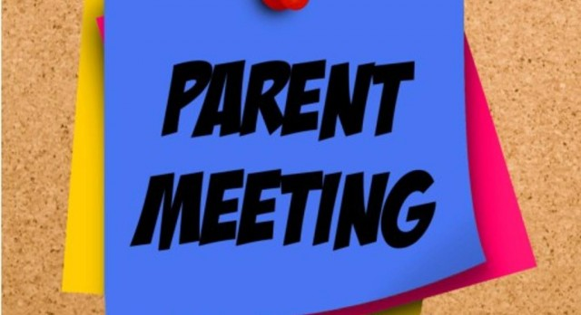 Fall Parent Meeting