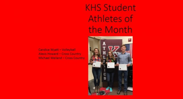 KHS September Student-Athletes of the Month