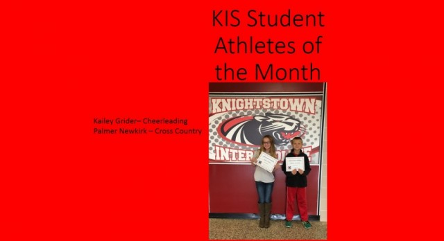 KIS September Student-Athletes of the Month