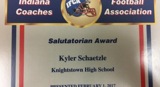 Kyler Schaetzle earns IFCA Salutatorian Award!