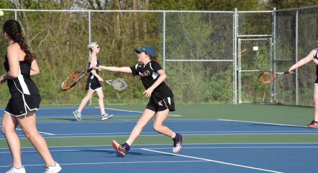 Tennis Falls to Adams