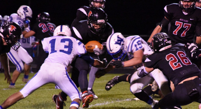 Football Falls to New Prairie on the Road
