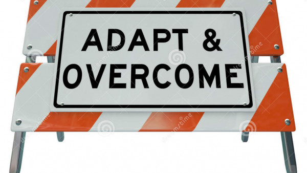 adapt-overcome-barricade-road-sign-challenge-problem-solving-words-construction-to-illustrate-need-to-change-improve-37510138