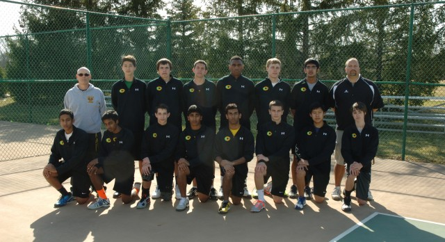 Varsity Tennis Teams Split Their Matches