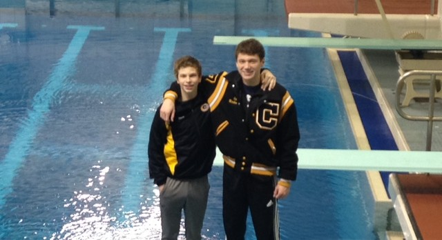 Boys Divers Finish 1-2 at Sectionals, Advance to Districts