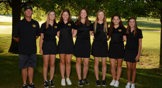 Girls Varsity Black Golf Beats Oakwood and Vandalia