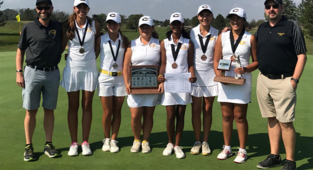 Girls Varsity Gold Golf Sweeps GWOC Titles