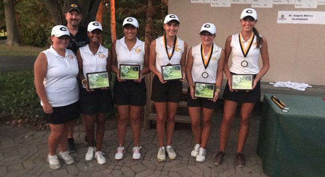 Girls Varsity Gold Golf Wins St. Angela Merici Invite